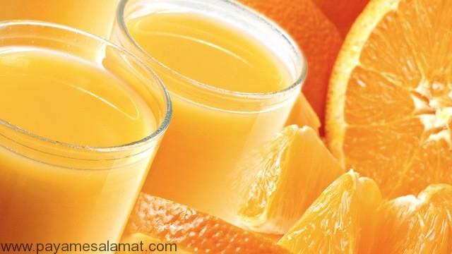 فواید درمانی آب پرتقال