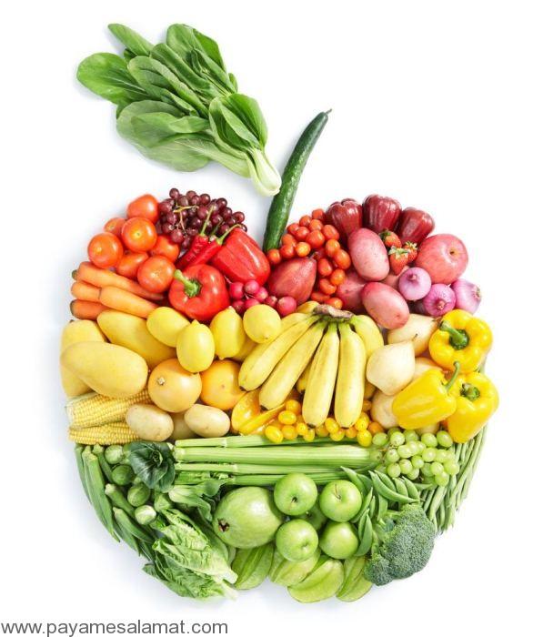 خوردن غذاهای سالم برای داشتن وزن سالم