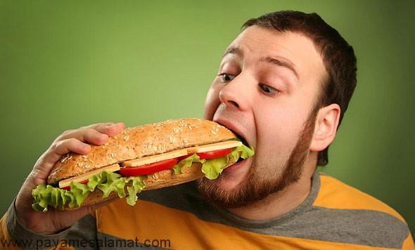مضرات پرخوری و روش صحیح غذا خوردن