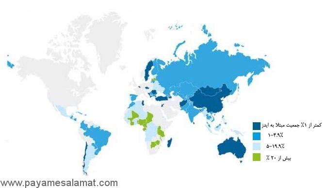 تعداد افراد مبتلا به HIV مثبت در ایران