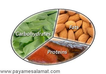 سه منبع اصلی کالری در رژیم غذایی