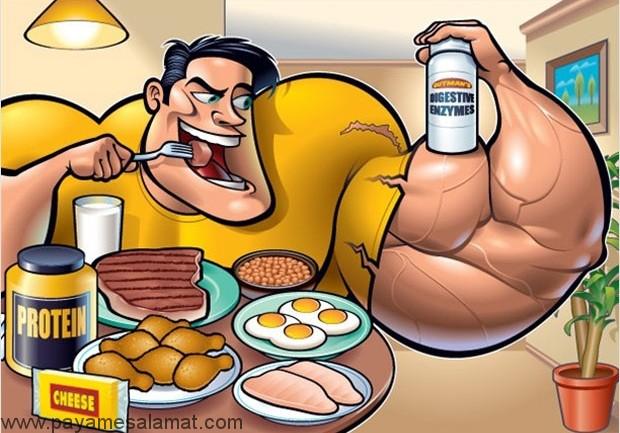 ۷ ماده غذایی عضله ساز برای مردان