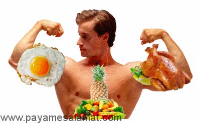 مهمترین نکات در تغذیه برای عضله سازی