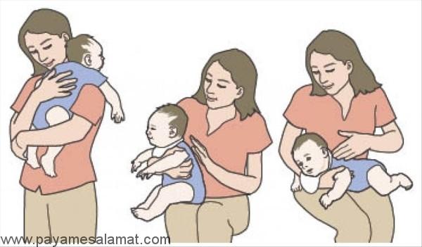 آروغ نوزاد و روش های خارج کردن باد گلو از بدن کودک