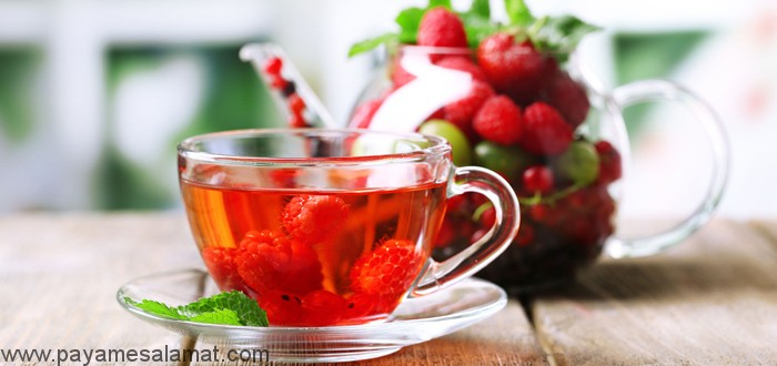 خواص و طرز تهیه چای برگ تمشک قرمز