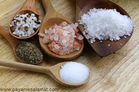 عوارض مصرف بیش از حد نمک