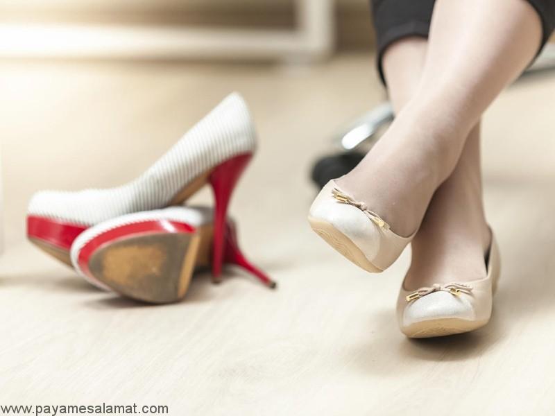 پوشیدن کفش پاشنه بلند در دوران بارداری