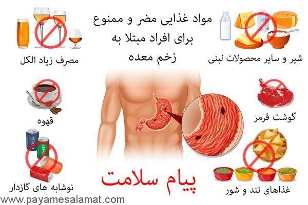 مواد غذایی مضر و ممنوع برای افراد مبتلا به زخم معده