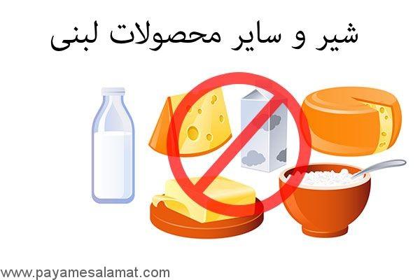 شیر و سایر محصولات لبنی
