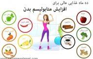 ۱۰ ماده غذایی خارق العاده برای افزایش متابولیسم بدن