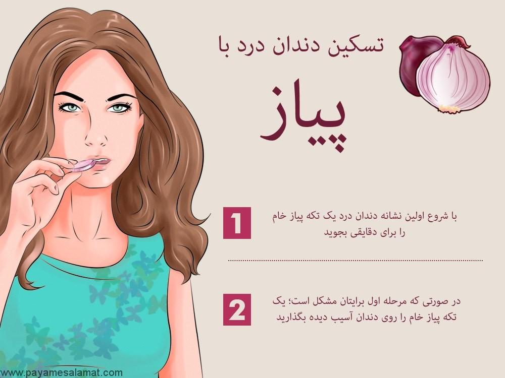 تسکین دندان درد با پیاز