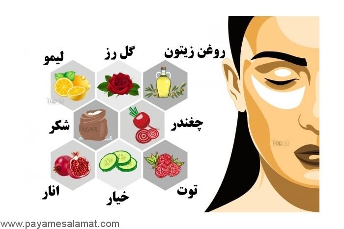 درمان تیرگی لب ها در خانه