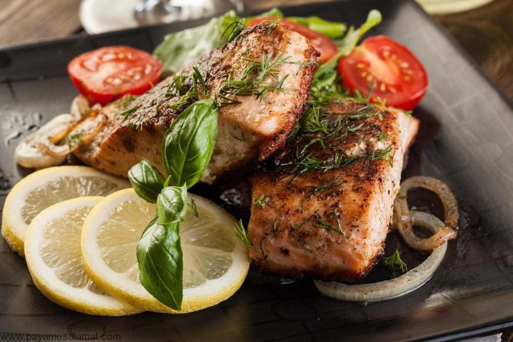 مقایسه مواد مغذی موجود در ماهی و مرغ