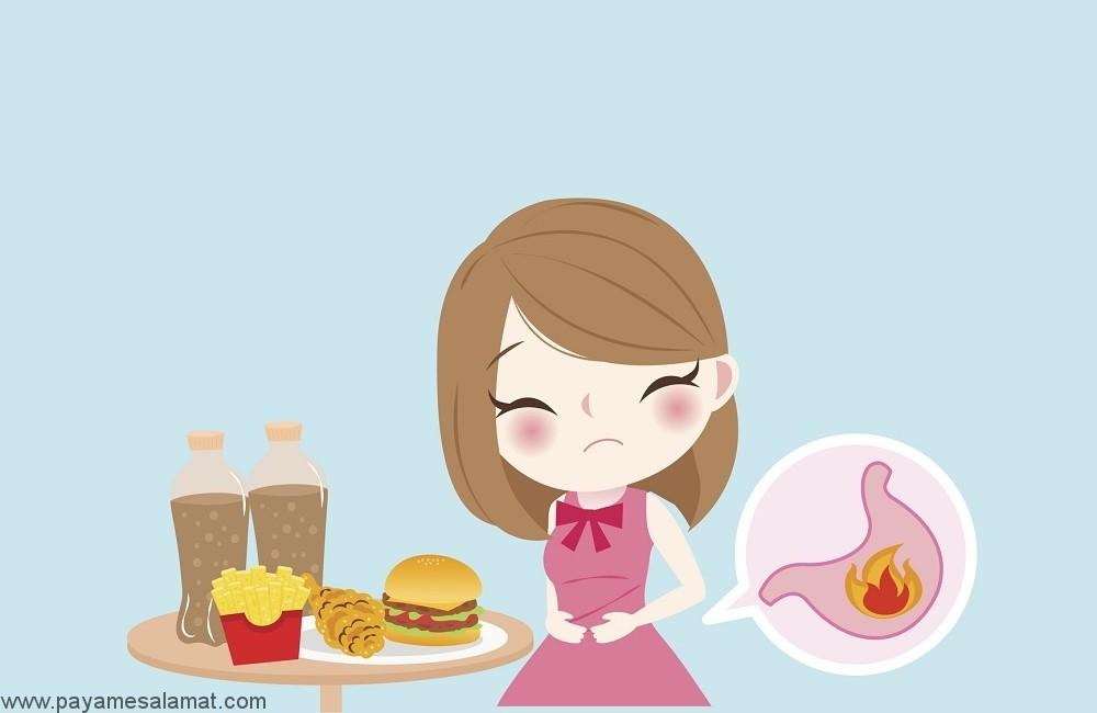 مواد غذایی ایجاد کننده ریفلاکس اسید و سوزش سر دل