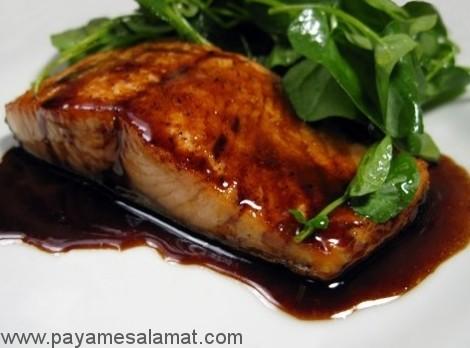 کالری فیله ماهی سالمون