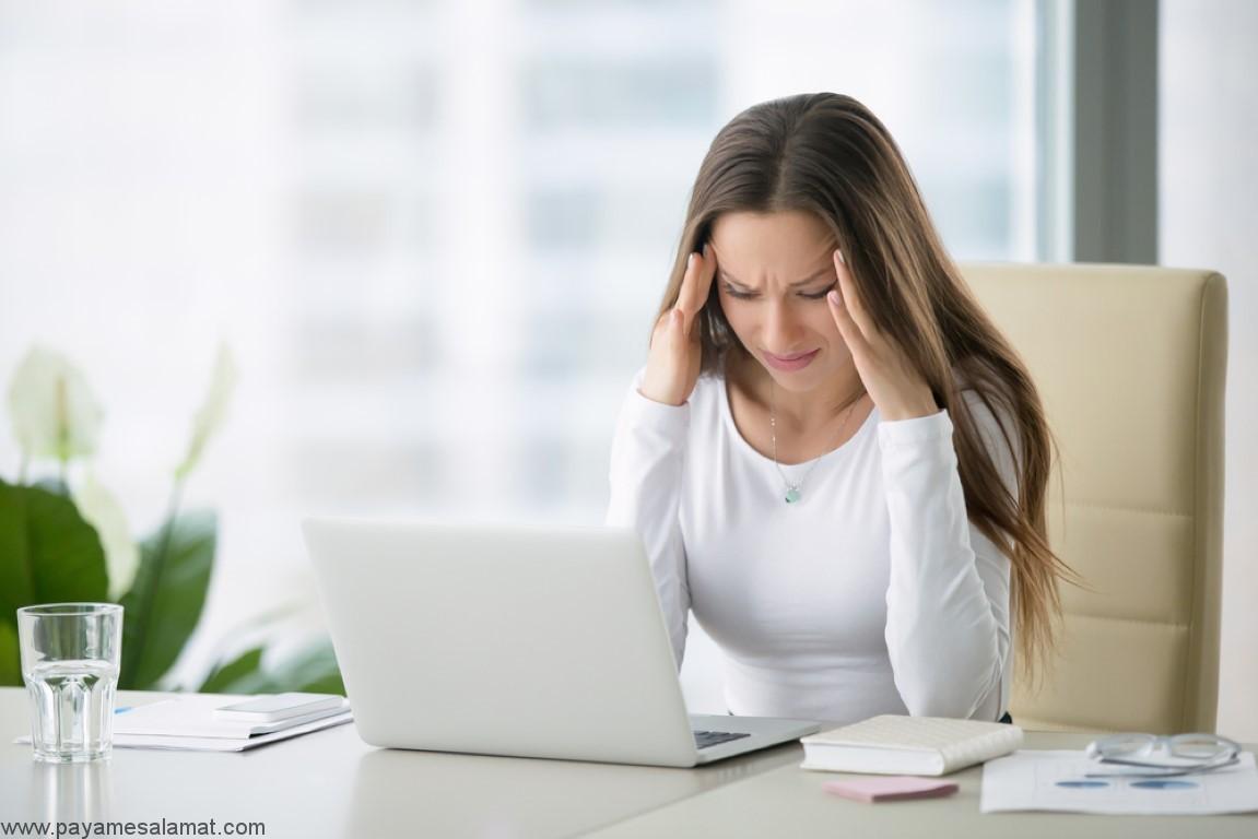علائم و نشانه های استرس بیش از حد در بدن
