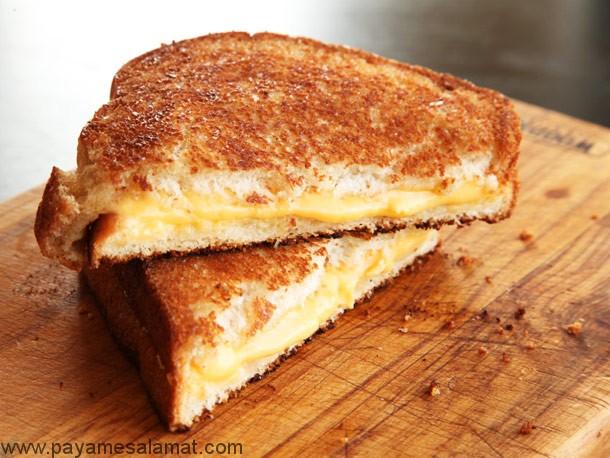 آیا ساندویچ پنیر کبابی غذای سالمی است؟