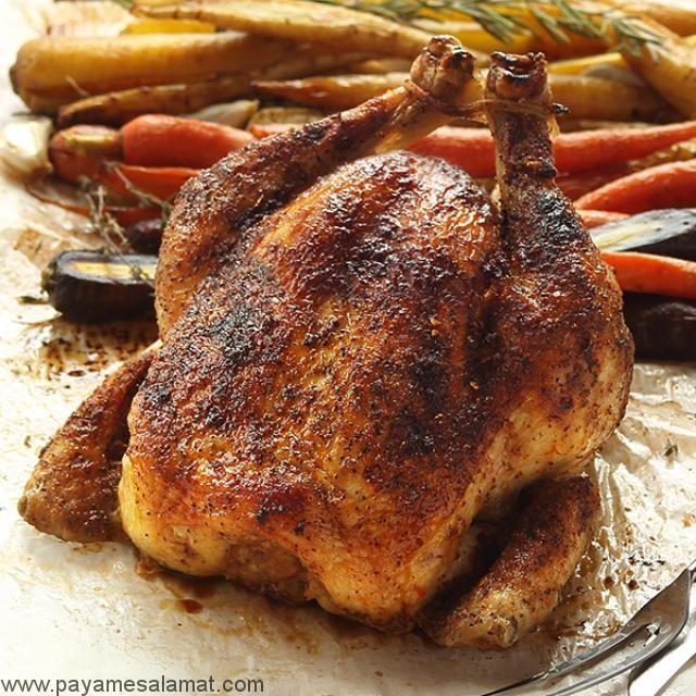 ارزش غذایی مرغ بریان شده