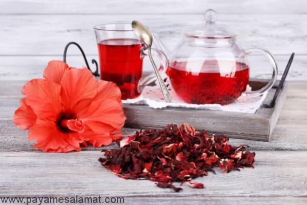 خواص چای گل بامیه برای بدن
