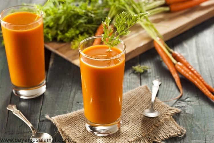 خواص آب هویج برای بدن