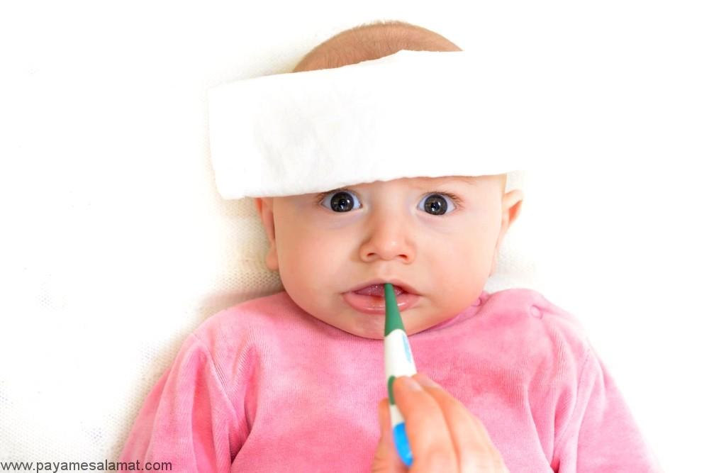 تب در نوزادان