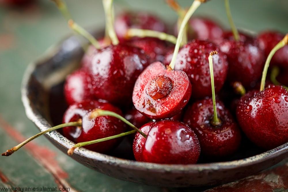 خواص گیلاس برای کاهش وزن، درمان نقرس و کاهش التهاب و ارزش غذایی آن