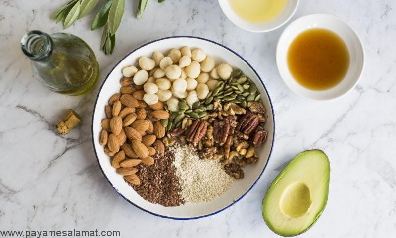 بهترین مواد غذایی غنی از امگا ۶