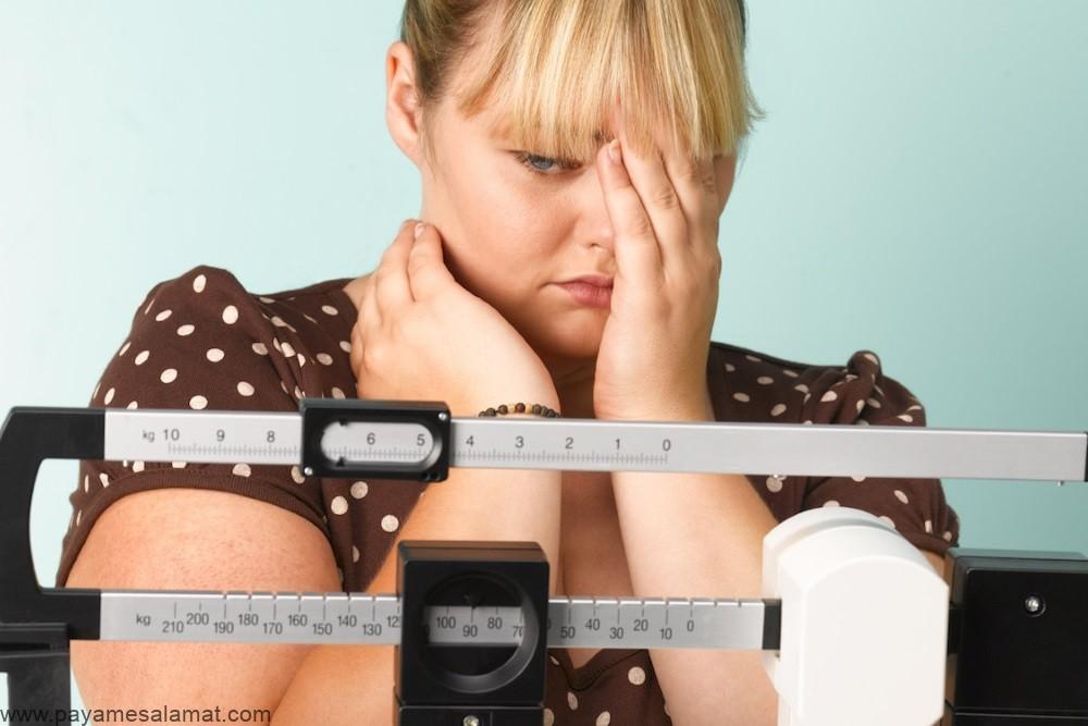 افزایش ناگهانی وزن